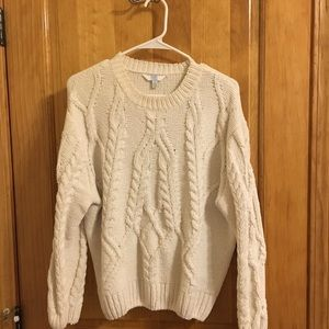 Cream knitted sweater
